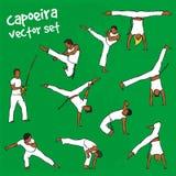 Vector capoeira set Stock Photos