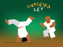 Vector capoeira set Stock Photos