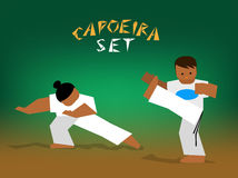 Vector capoeira set Stock Photo