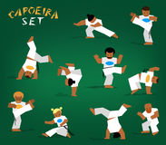 Vector capoeira set Stock Image