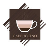 Vector cappuccino icon Stock Photography