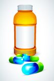 Vector Capsule Bottle Royalty Free Stock Images