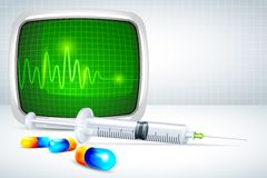 Vector Capsule with Syringe Stock Photography