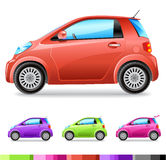 Vector car. Vector small car (4 colours Royalty Free Stock Images