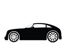 Vector car 2. Silhouette a car, vector illustration Stock Images