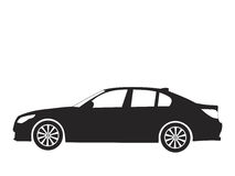 Vector car. Silhouette car on white background, vector illustration Royalty Free Stock Photo