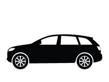 Vector car 4. Silhouette a car, vector illustration Royalty Free Stock Images