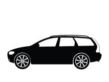 Vector car 5. Silhouette a car, vector illustration Stock Image