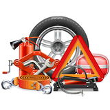 Vector Car Accessories Concept Stock Images