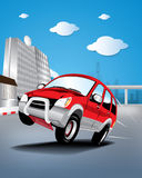 Vector car in the city Stock Photo