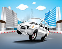 Vector car in the city Stock Image