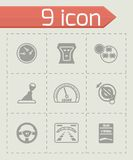 Vector Car dashboard icon set Royalty Free Stock Images