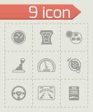 Vector Car dashboard icon set vector illustration