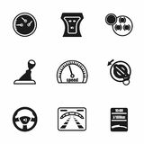 Vector Car dashboard icon set Royalty Free Stock Photos