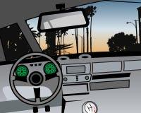 Vector car dashboard and interior. Additional vector format Illustrator 8 eps Stock Photos