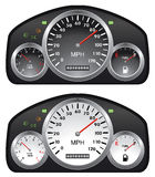 Vector car dashboards Royalty Free Stock Image