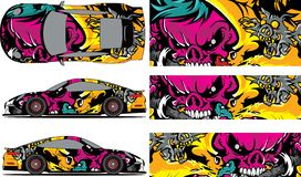 Free Vector Car Decal, Abstract Graphics Racing Design For Vehicle Sticker Vinyl Wrap Stock Photography - 143971882