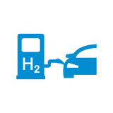 Vector car hydrogen station icon Royalty Free Stock Photos