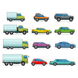 Vector car icons Royalty Free Stock Image