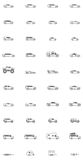 Vector car icons Stock Images