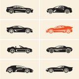 Vector car icons. Sport cars. vector illustration