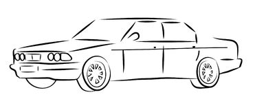 Vector car. Vector illustration of a car on a white background Royalty Free Stock Image