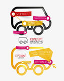 Vector car infographic, tag cloud Royalty Free Stock Image