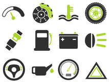 Vector car interface icon set Royalty Free Stock Images