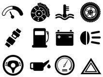 Vector car interface icon set Stock Photos