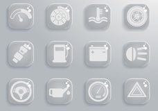 Vector car interface icon set Stock Image