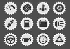 Vector car interface icon set Royalty Free Stock Photos
