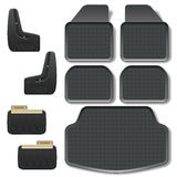 Vector Car Mats set 2 Stock Photo