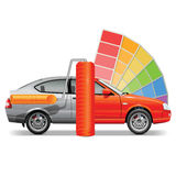 Vector Car with Paint Brush Stock Photo