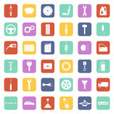 Vector car parts icons Stock Image