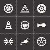 Vector car parts icons set Stock Images