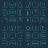 Vector car parts icons Stock Images