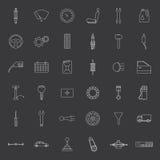 Vector car parts. Icons set. Royalty Free Stock Photo