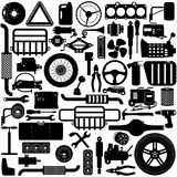 Vector Car Parts Pictogram Royalty Free Stock Photo