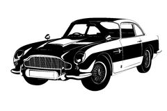 Vector car. Retro car to use in the design Royalty Free Stock Photo