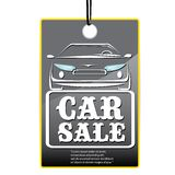 Vector Car sale design template with car. Royalty Free Stock Images