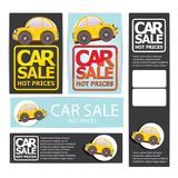 Vector Car sale design template with car. Royalty Free Stock Photo