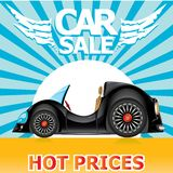 Vector Car sale design template with car. Royalty Free Stock Photography
