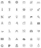 Vector car service related icons stock illustration