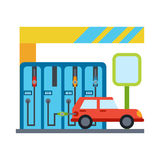Vector car service and repair Stock Images