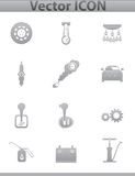 Vector car set icons. auto service square Royalty Free Stock Photo