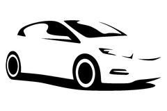 Vector car silhouette. For print or for site Stock Photo