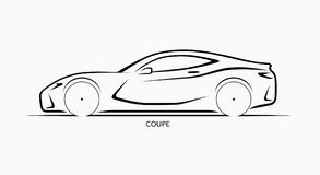 Vector Car Silhouette  Side View Of Sports Car Stock Vector