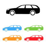 Vector car silhouettes Stock Photo