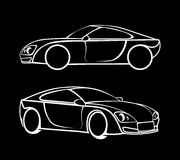 Vector car silhouettes Stock Images