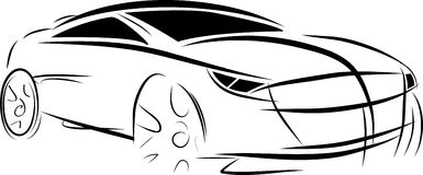 Vector car sketch Royalty Free Stock Images